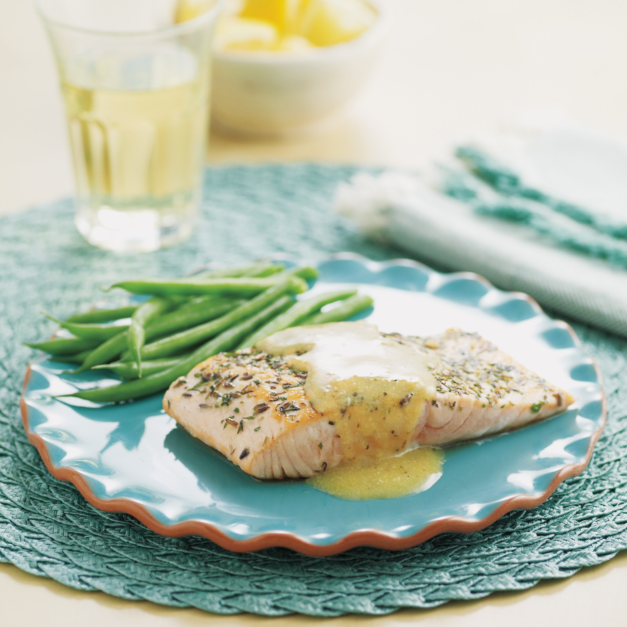 Lemon-Herb Salmon Skillet Recipe from HEB